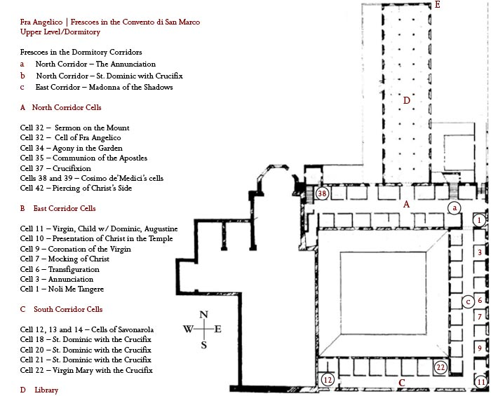 Image result for convent of san marco floor plan