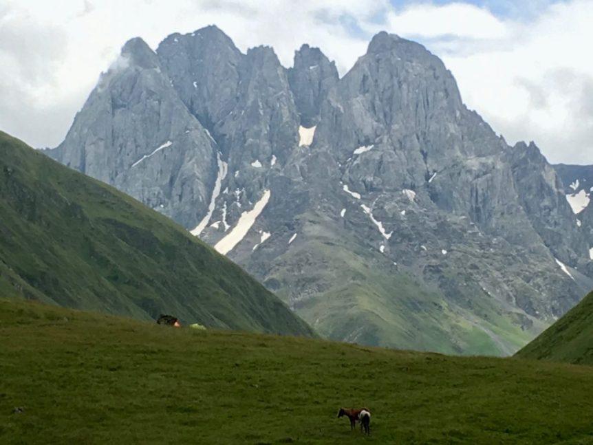 At the foot of Mt. Chaukhebi