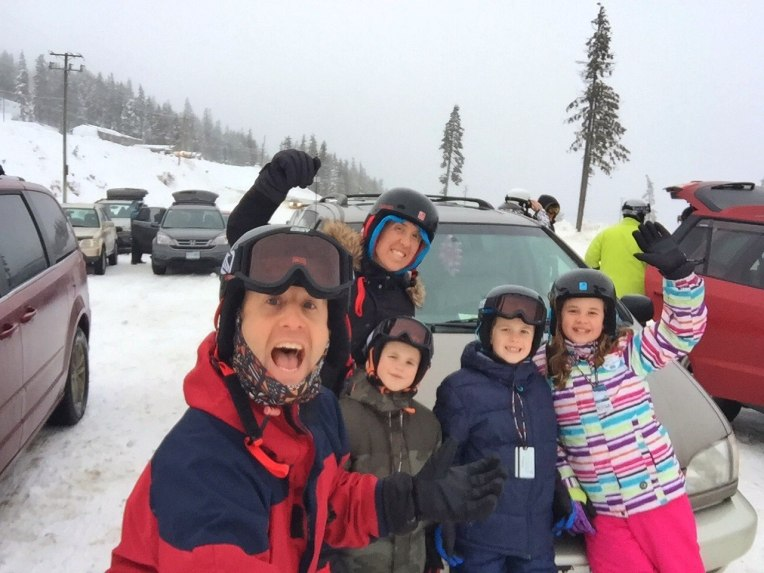 Day #2 - Arriving at the top of the mountain with our minivan