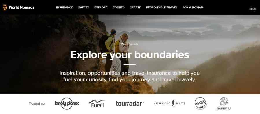 World Nomads - Great for Adventurous Digital Nomads