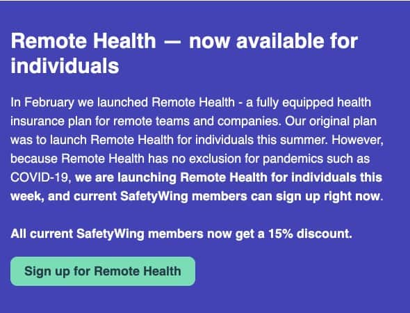 Safety Wing - Remote Health