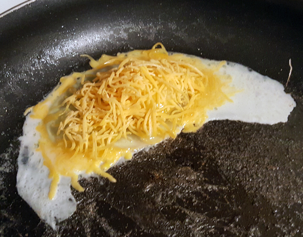 Making Cheese Fried Eggs - Step One