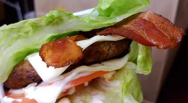 Keto Burger - Hardee's Low Carb Thickburger in Lettuce Wrap
