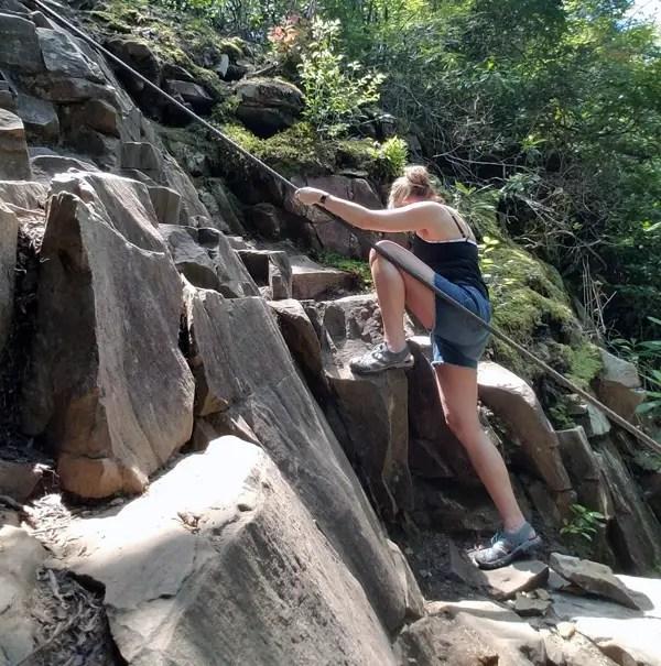 Rock Climbing at Fall Creek Falls - The Cable Trail