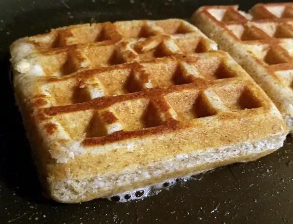 Keto Waffles Fried In Bacon Grease - Low Carb Breakfast Ideas