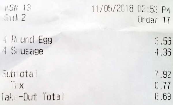 McDonald's Sausage and Eggs - Keto Breakfast Talk