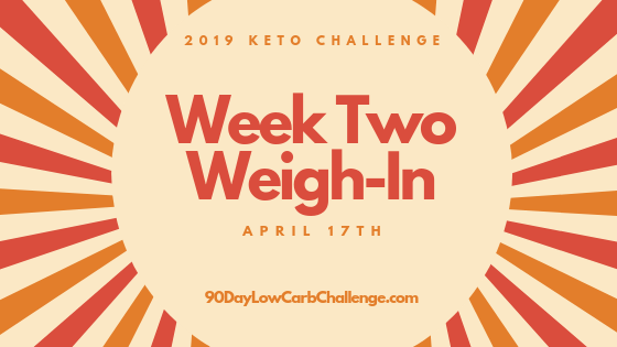 Keto Challenge Week Two Weigh In