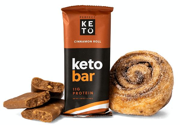 New Cinnamon Roll Keto Bar