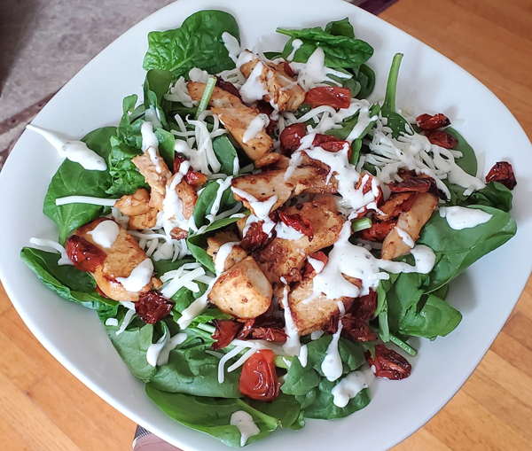Low Carb Spinach Salad