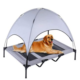 SUPERJARE beach camping Elevated Pet Cot with Canopy