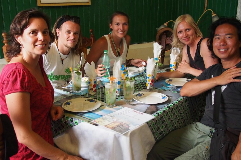 Mit Gene, Neda, Katalina und Paul in Santiago de Cuba