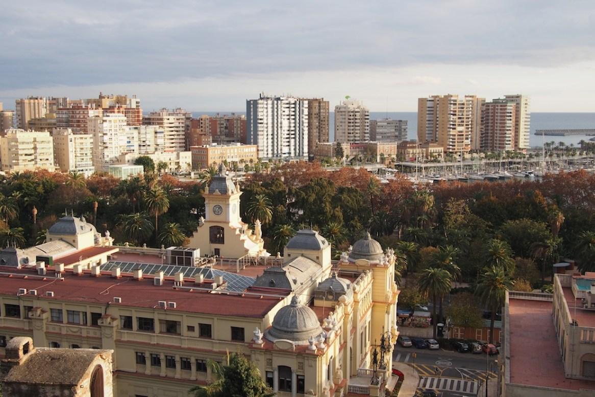 Blick auf Malaga von der Burg Alcazaba