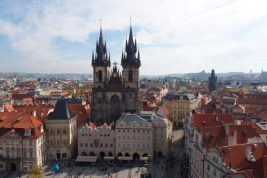 Blick vom Rathaus auf die Prager Altstadt