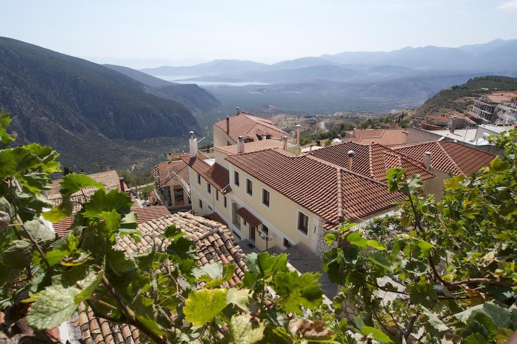 Ausblick von der Taverna Vakchos Nahe des Orakel von Delphi