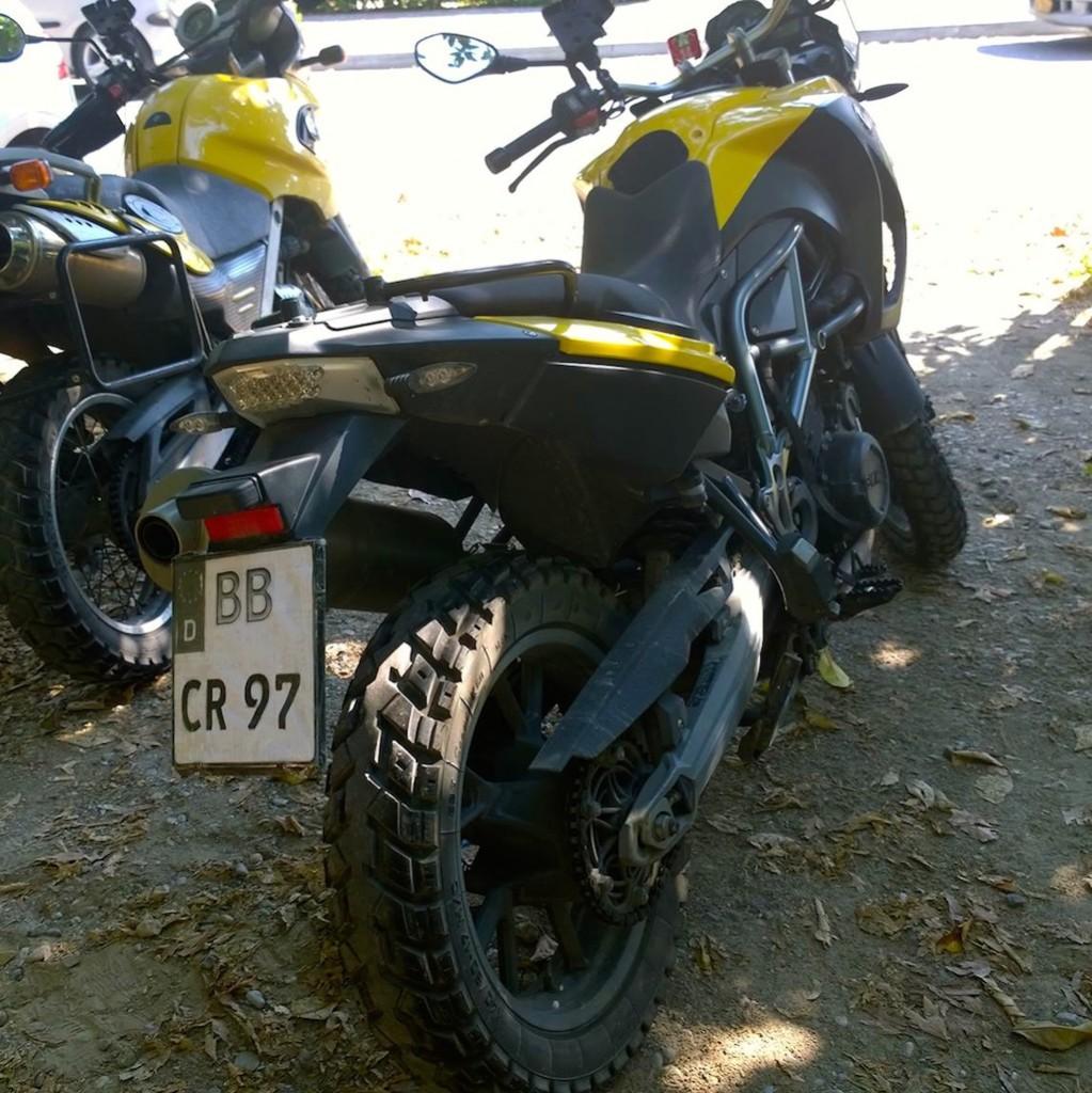 Ohne Nummernschild Motorrad