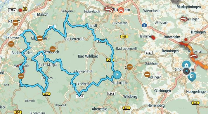Nordschwarzwald Motorradtour