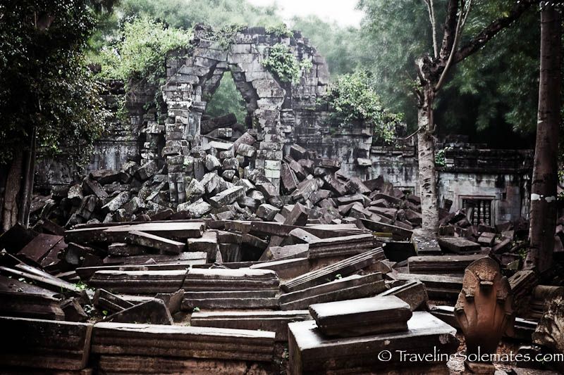 Rubles in Beng Mealea, Cambodia