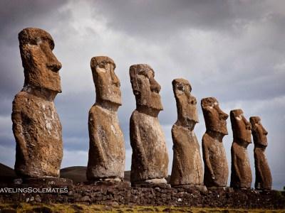 Ahu Akivi, Easter Island, Chile