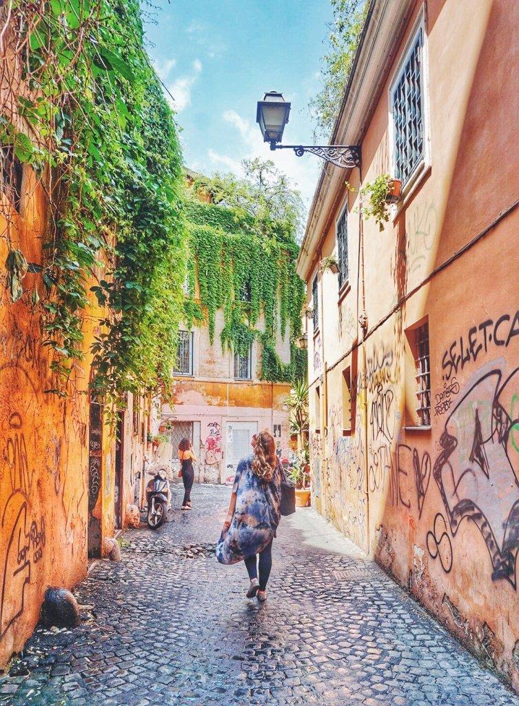 Trastevre neighborhood-Rome