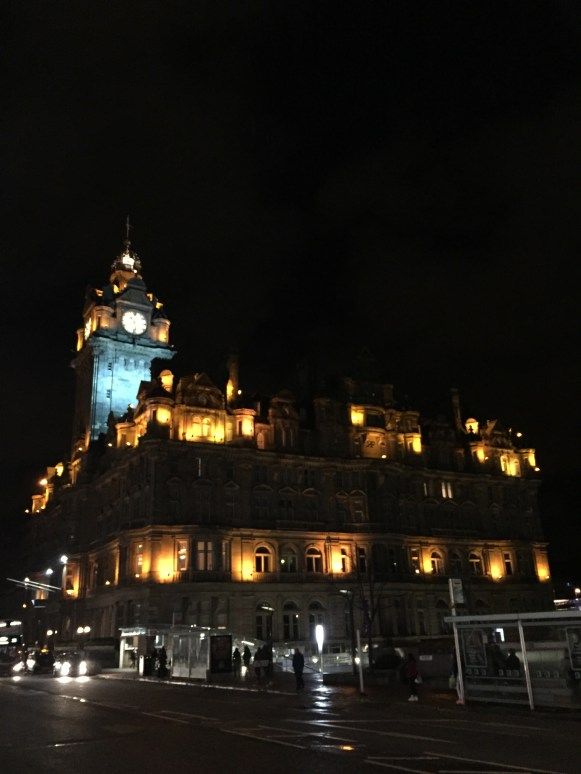 Even at night, the buildings are magical!