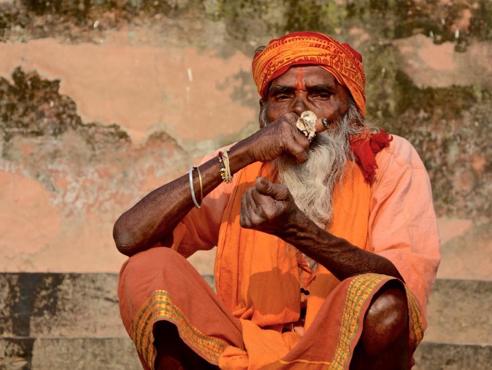 Rückblick Reisen 2016 Varanasi Indien Sadhu