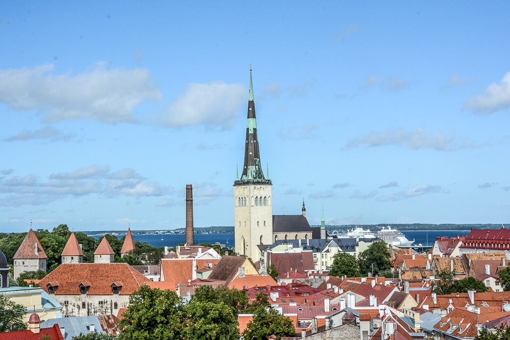 Traveling the World Tallink Silja Tallinn Old Town Panorama Viewing Point