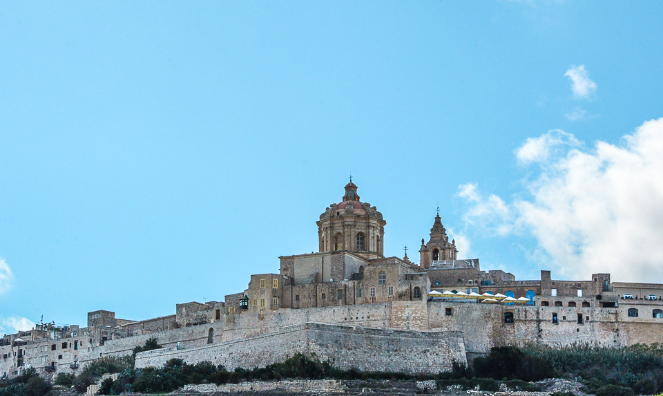 Traveling the World Malta Mdina Skyline
