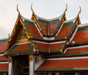 This is the gable over each gateway between the Temple of the Emerald Buddha complex and the Middle Court.