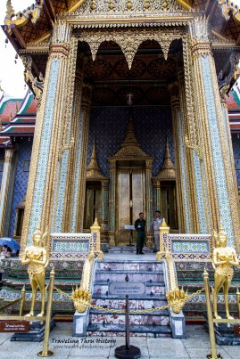 Side entrance to the Temple of the Golden Buddha