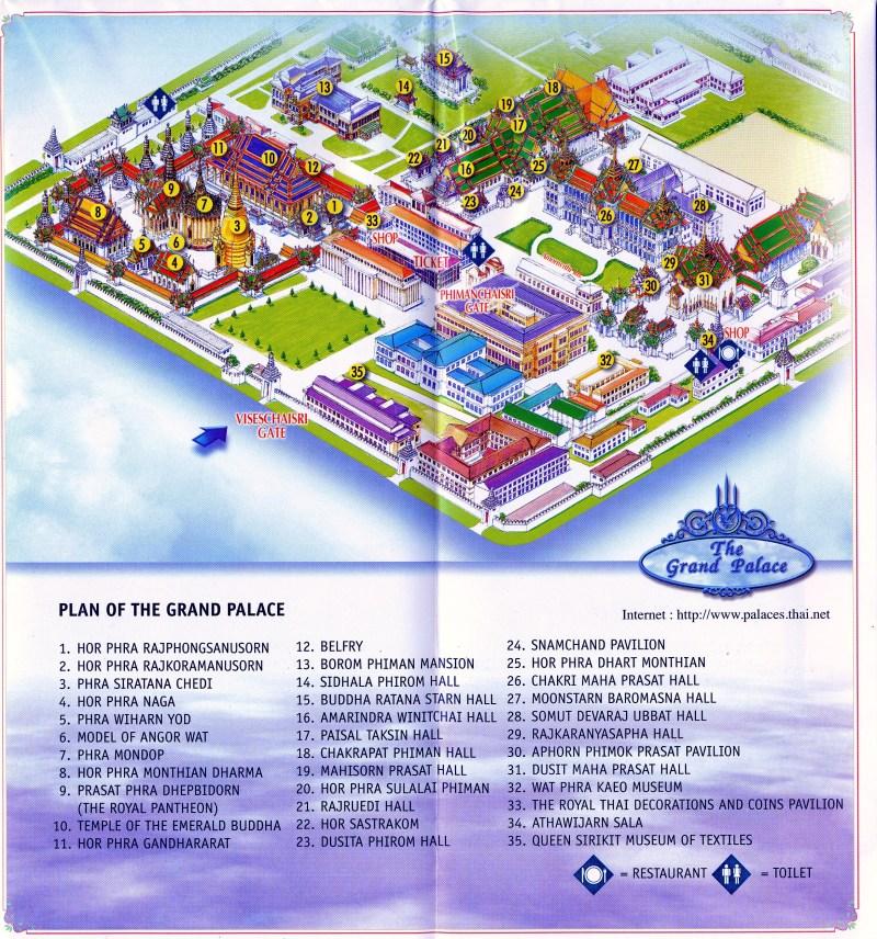 Thailand's Grand Palace Map
