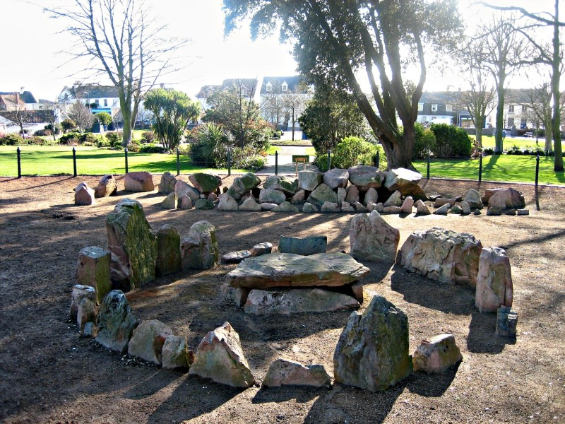 Neolithic passage grave, St. Andrew's Park, Jersey,