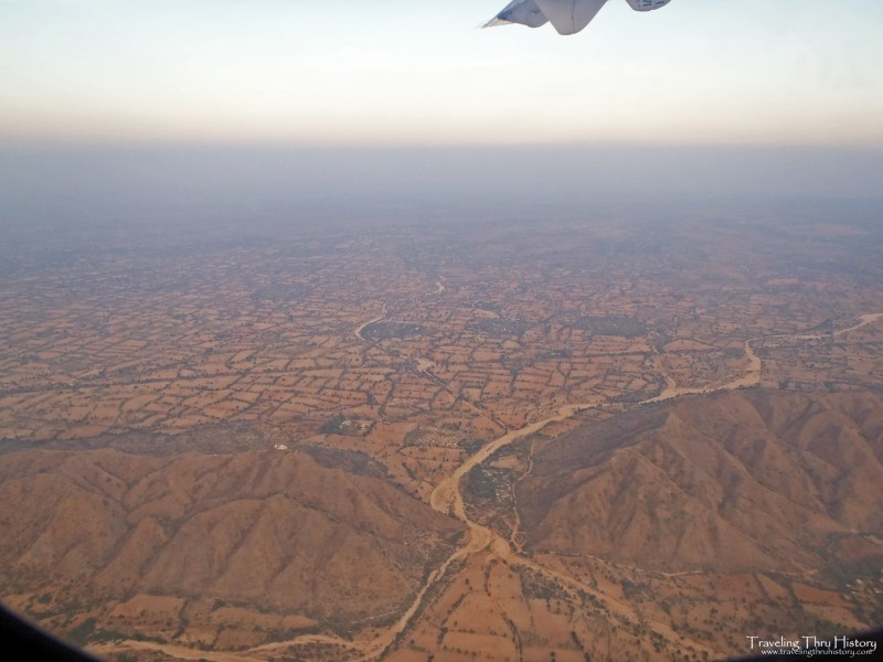 View from the airplane leaving Bagan, Myanmar