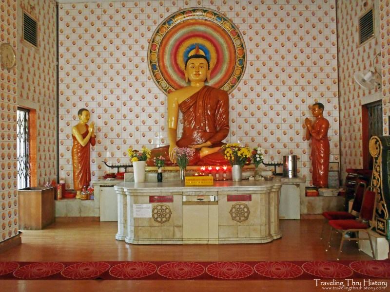 Maha Vihara Buddhist Temple in Brickfields is a Buddhist site located in the Brickfields section of Kuala Lumpur. It was founded in 1895 by the Sinhalese community to provide a place of worship in the Sri Lankan Theravada Buddhist tradition. It is also known as the Brickfields Buddhist Temple.