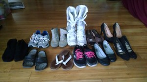 All the shoes I own. Holy cow 11 seems like a lot.