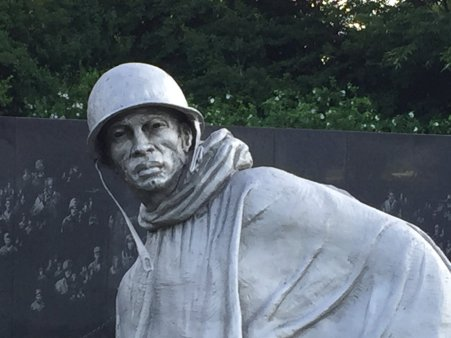 Korean War Memorial on the National Mall.