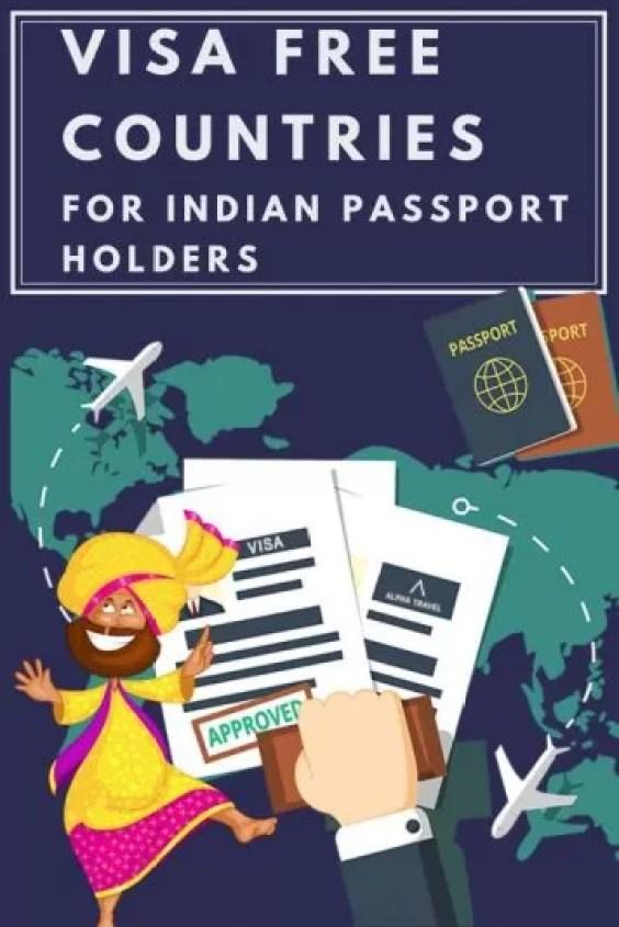 Visa free countries - Visa Free Countries for Indians