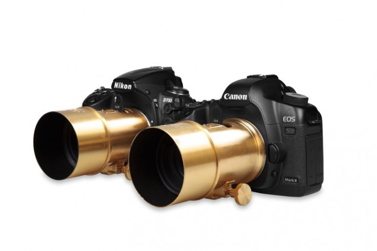 Canon y Nikon con objetivo Petzval