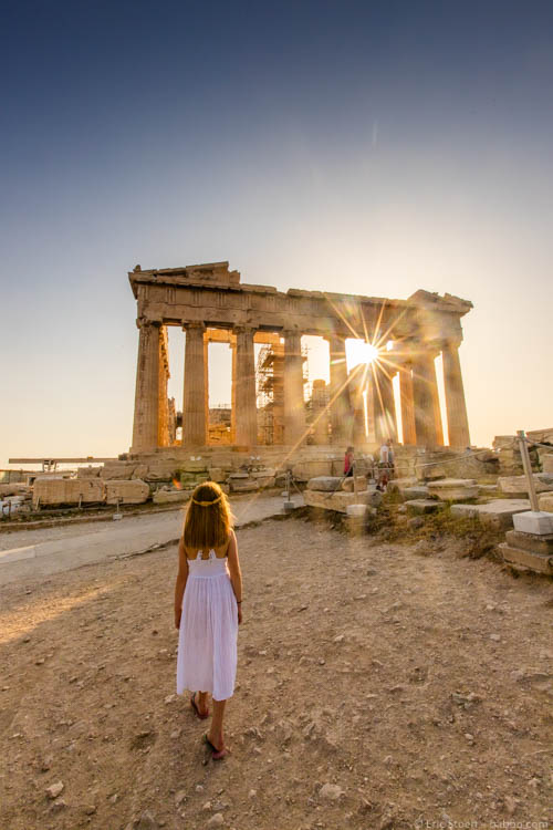 Late afternoon at the Parthenon