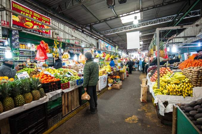La Vega Central y Mercado Central, Santiago