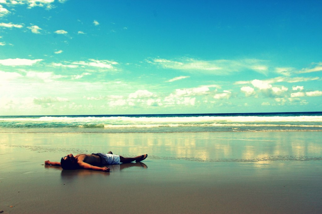 Chillaxing at the Gold Coast beach, Australia