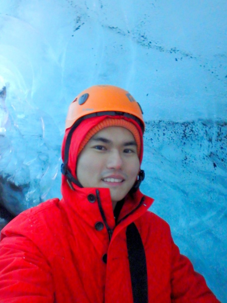 Selfie in the Ice Cave