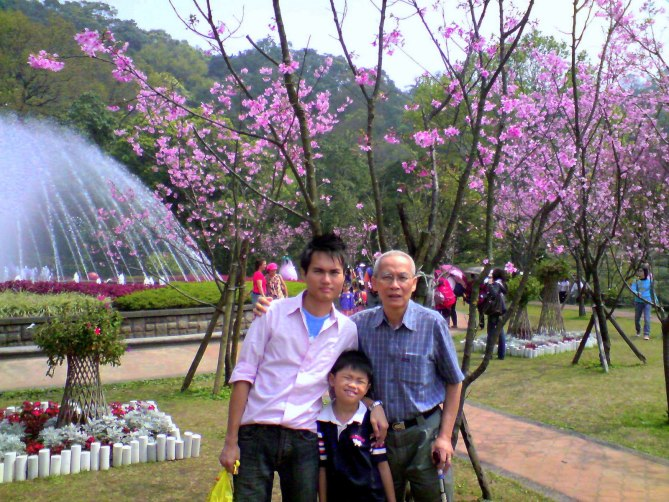 With my dad and nephew in Yang Ming Shan, Taiwan