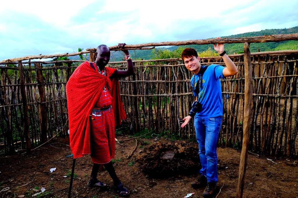 With the Masai Mara Tribe Chief