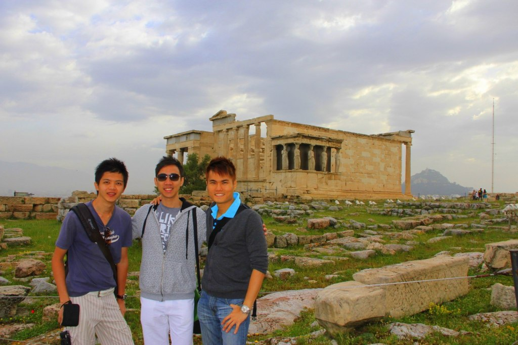 At the top of the city of Athens, the Acropolis, Athens, Greece