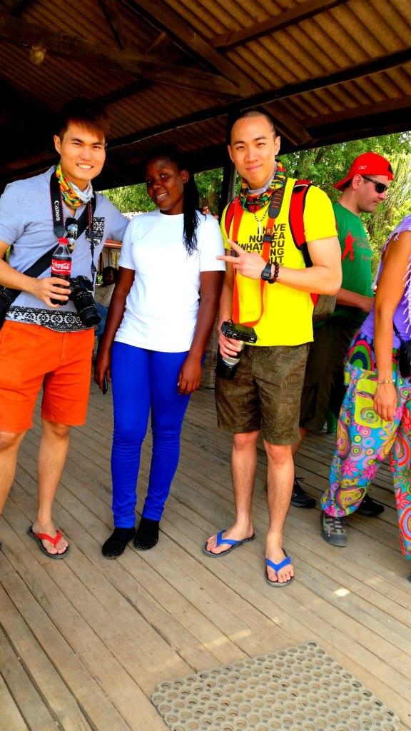 With Nelia (Tanzanian) and Brother Ryan (Singapore) in Serengeti, Tanzania