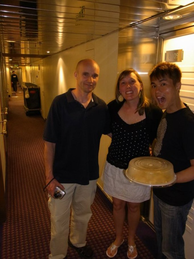 With Sweet Couple Mark and Courtney (American) in Greece
