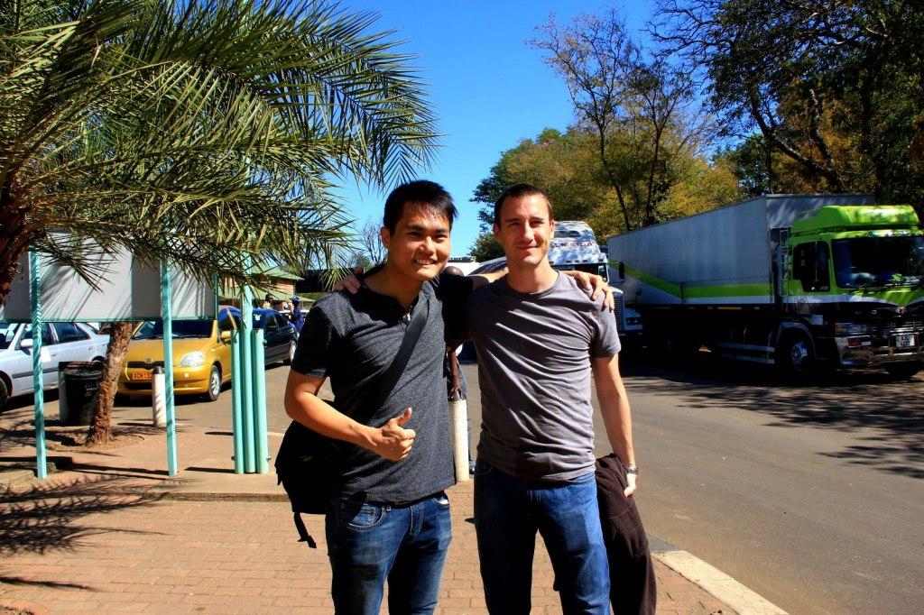 With Eric (American) in Zimbabwe