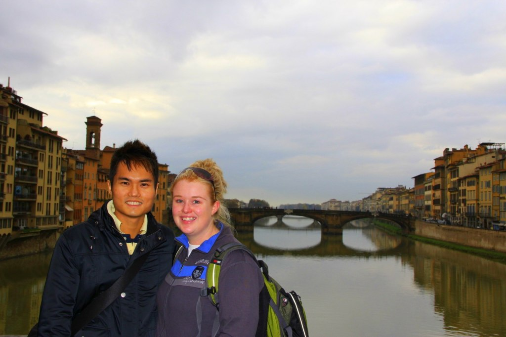 With Clare (Aussie) in Florence, Italy
