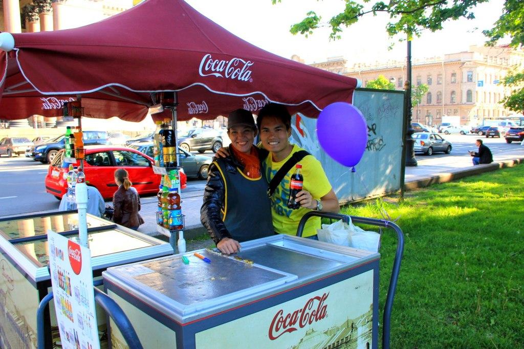 Ice Cream Russian Woman in St Petersburg