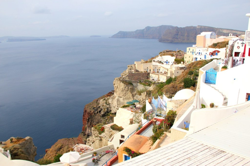 Cliff side houses of Santorini